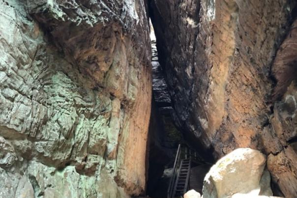 Cracks in the Rocks at Blue Heron by Sara Beth Gregory