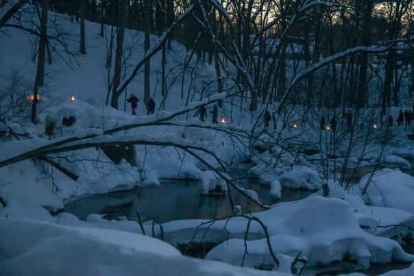 Candle Light Snowshoe Hike Altoona Holiday Event