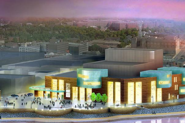 Confluence Arts Center rendering
