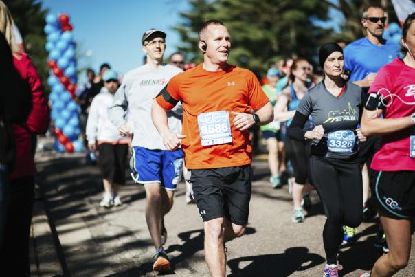 Eau Claire Marathon runners