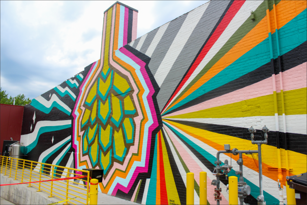 The Brewing Projekt Mural in Downtown Eau Claire