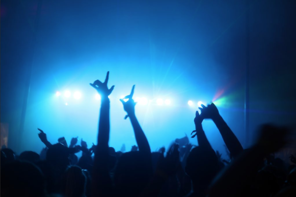 Country Jam Night Concert Blue Lights