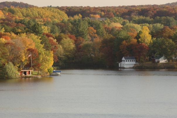 Fall Foliage on Lake Altoona