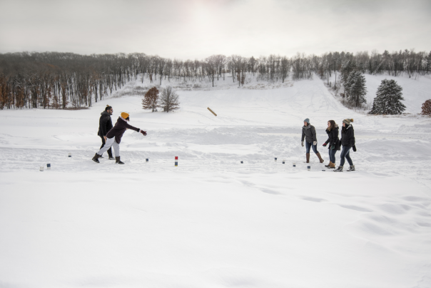 Winter Kubb at Pinehurst Park