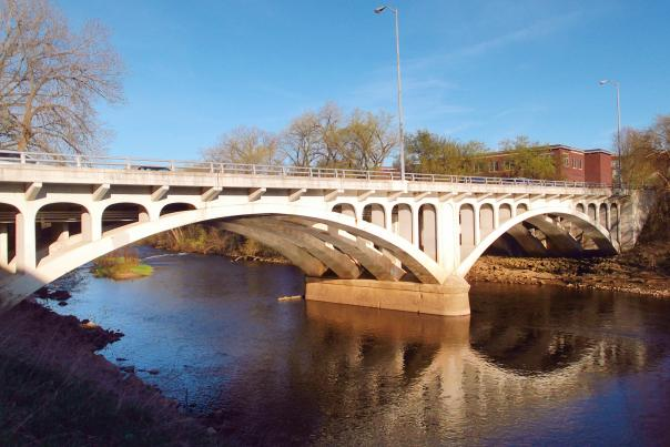 Dewey Street Bridge in Eau Claire, Wisconsin