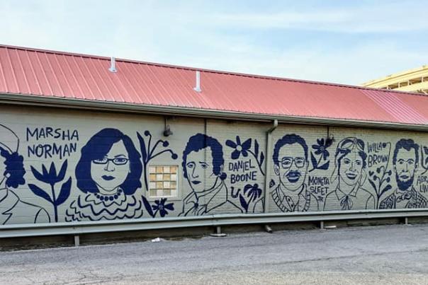 Kentuckians mural in etown