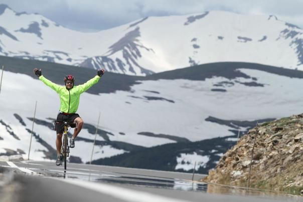 Road Biking Along Trail Ridge Road