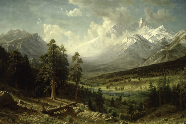 Albert Bierstadt Painting Courtesy Denver Public Library