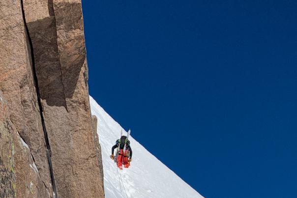 Brody Snow Climbing