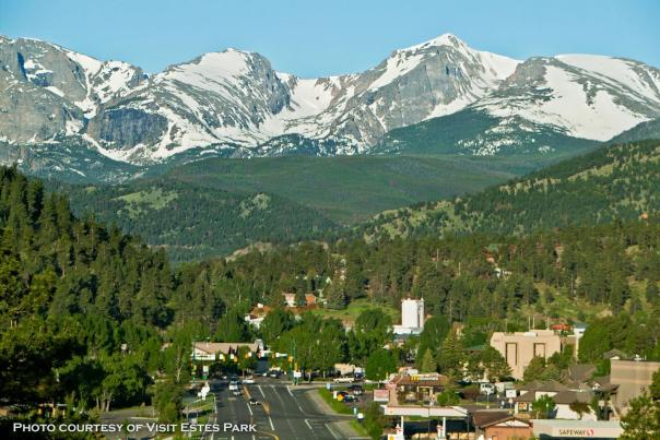 Entrance to Estes Park via Hwy 34