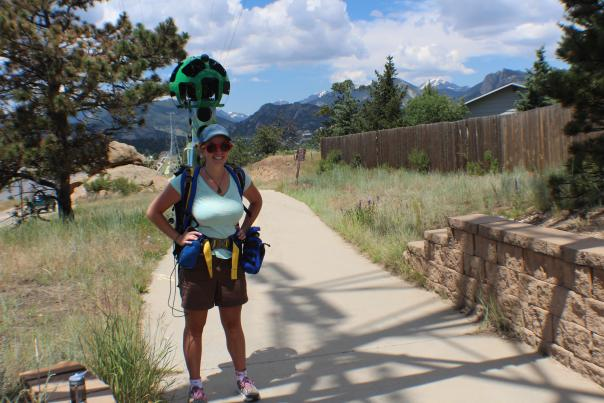 Google Trekker on Lake Estes