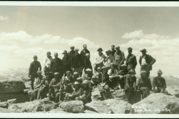 Longs Peak Summit 1924 Courtesy Estes Park Museum