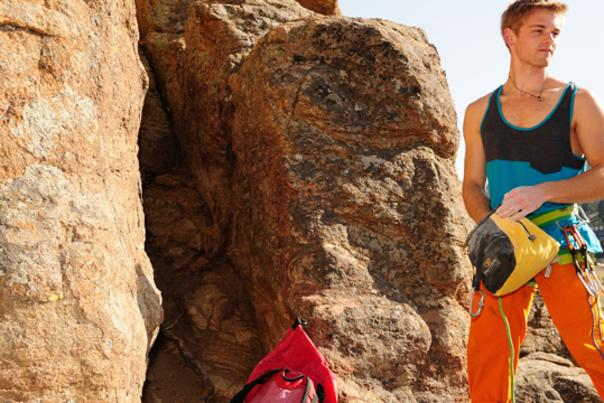 Male Climber with Gear