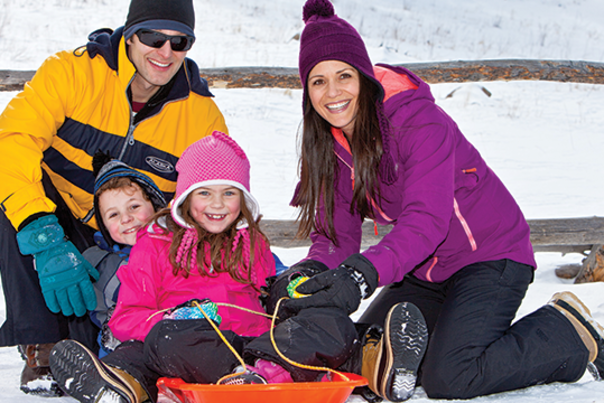 Outdoor Family Sledding
