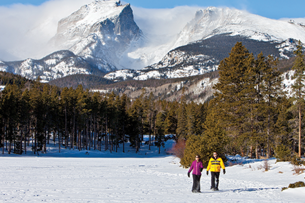 Outdoor Adventure Snowshoe Couple
