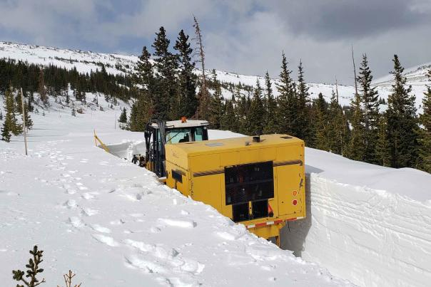 Plowing of Trail Ridge Road