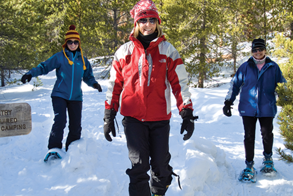 Snowshoeing Women Winter Trails Day