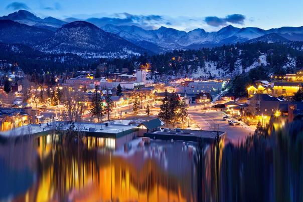 Winter Town Lights
