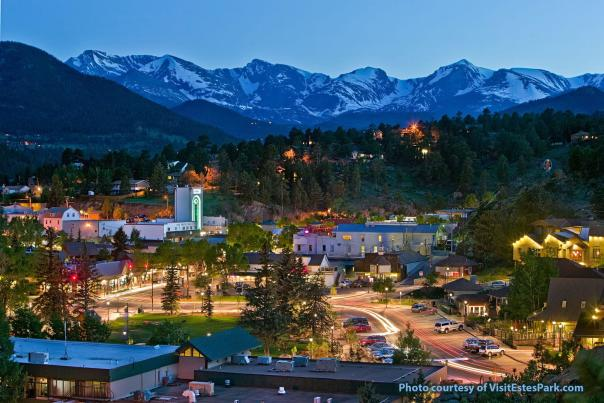Evening in the Village of Estes Park