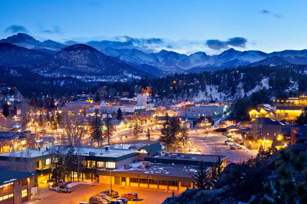 Winter Glow in Estes Park