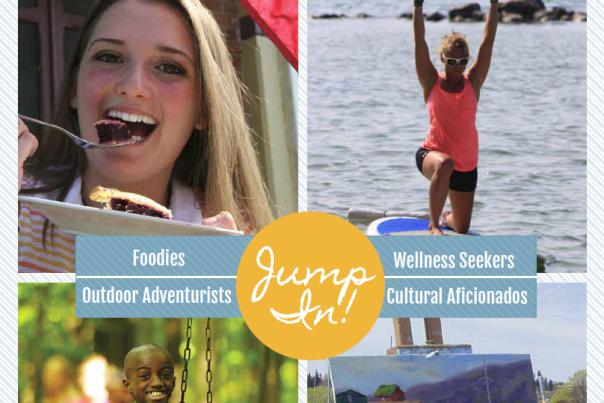 Cover of Jump In! Official Visitors Guide of Ontario County