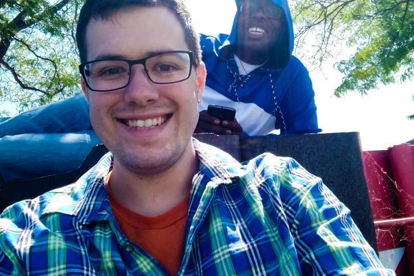 Jake and Elijah at Canandaigua City Pier
