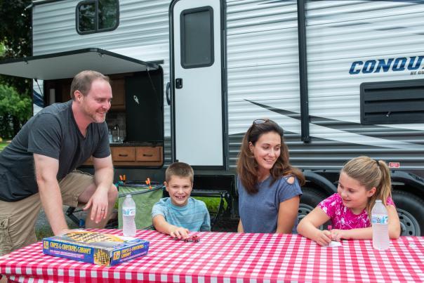 Family having a Picnic at KOA Canandaigua