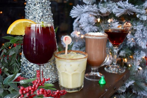 An assortment of Holiday Cocktails at NYBP