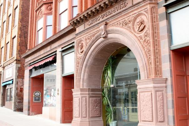 Main entrance of the Smith Opera House