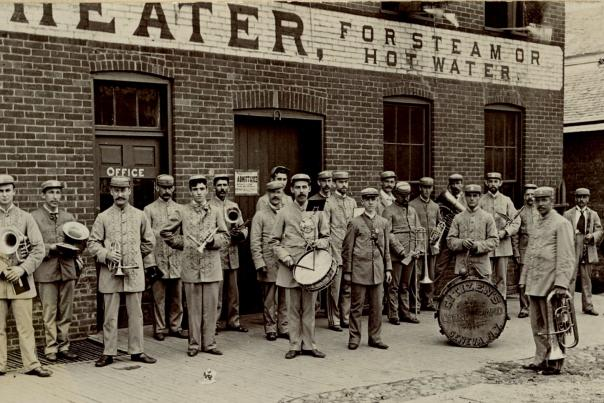Old photo of the Citizens Cornet Band of Geneva 1897