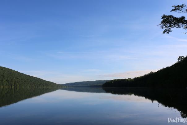 Early morning on Canadice Lake