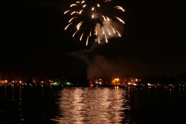 Fireworks over Canandaigua Lake