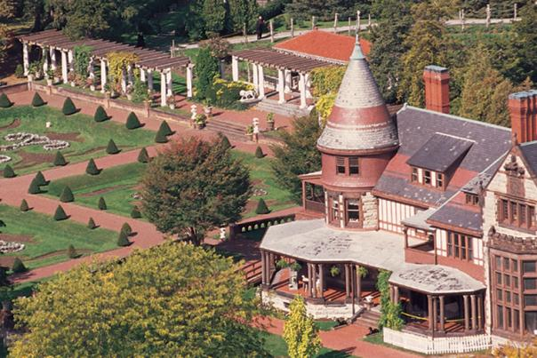 Sonnenberg Gardens & Mansion State Historic Park Aerial