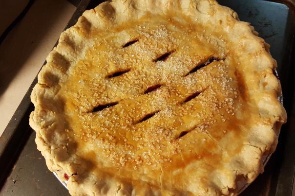 Picture of grape pie