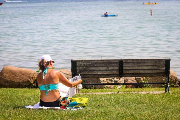 kershaw-park-canandaigua-woman-sunbathing