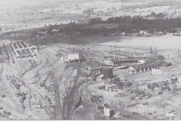 Old picture of the roundhouse