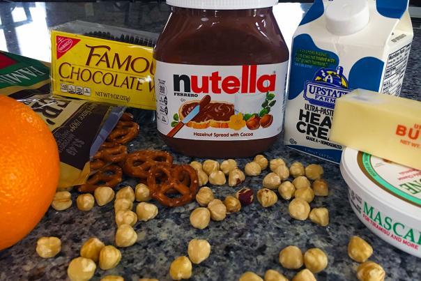 Nutella Orange Pie ingredients