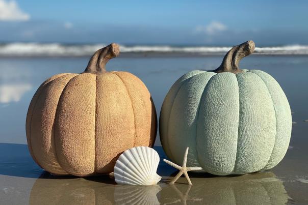 pumpkin fall beach