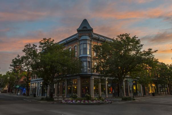 Copy of Linden Hotel sunrise