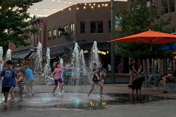 Old Town Splash Pad Evening