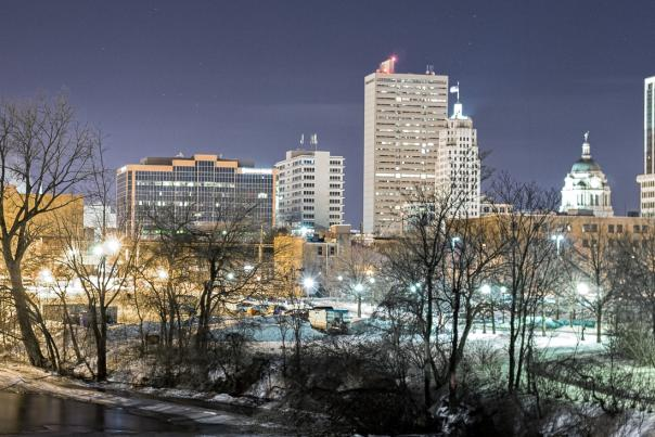 Copy of Downtown Evening Skyline from Headwaters Park