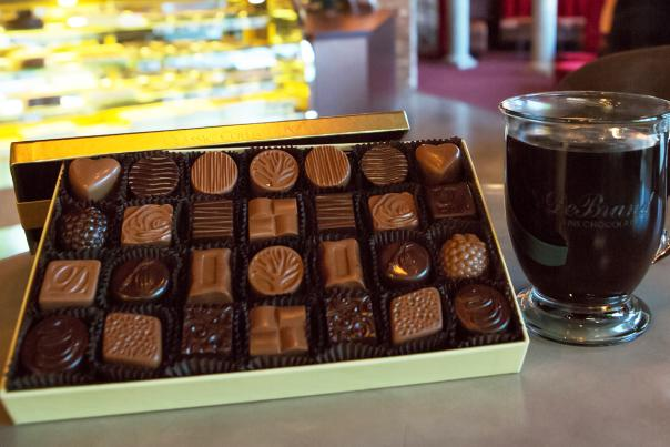 DeBrand Chocolate Box and Coffee
