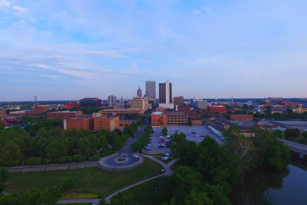 Downtown Fort Wayne Skyline from the Riverfront