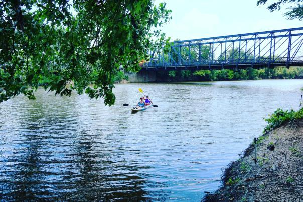 St. Mary's River Kayaking - Wells Street Bridge in Fort Wayne, Indiana