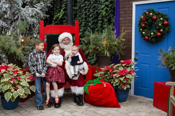 Kids with Santa at the Botanical Conservatory