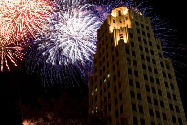 Lincoln Tower Fireworks