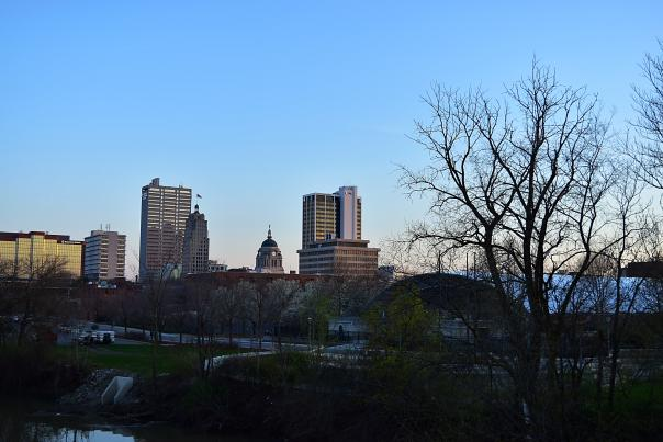 Downtown Spring Skyline - Fort Wayne, IN