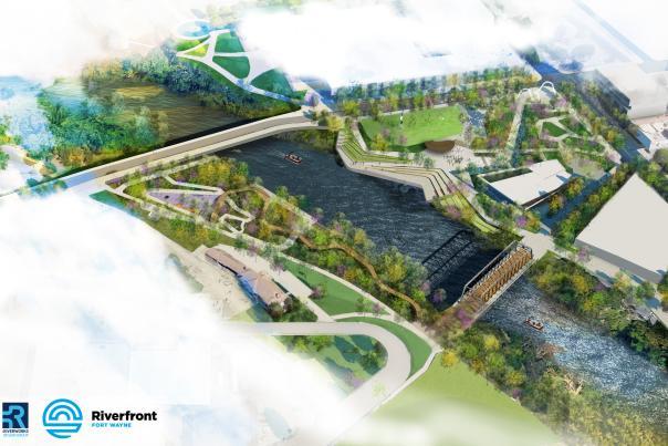 Riverfront Rendering Aerial