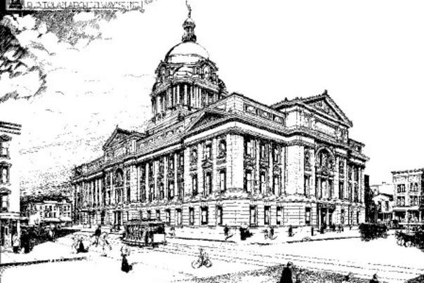 Drawing of the Allen County Courthouse