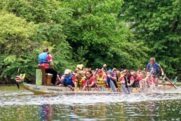 Riverpalooza Dragon Boat Races 2015 - Fort Wayne,IN